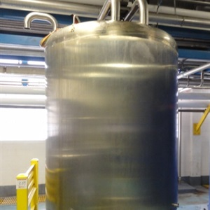 1000 Gallon Walker Sanitary 316L Stainless Steel Mix tank